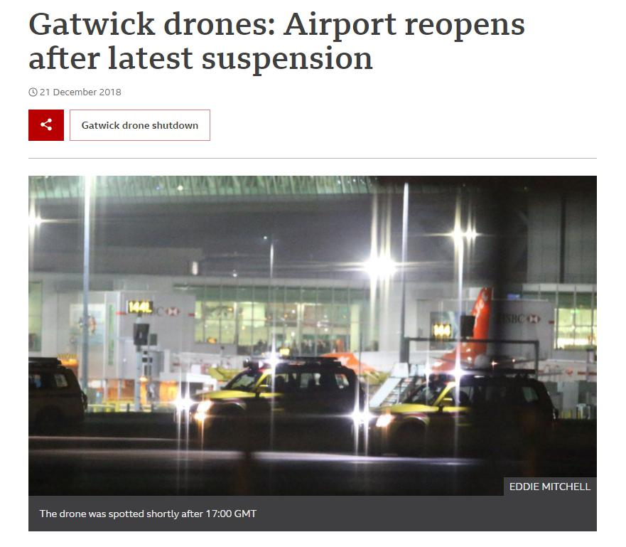 A further drone sighting has again disrupted the UK's second biggest airport, with flights grounded and passengers unable to fly