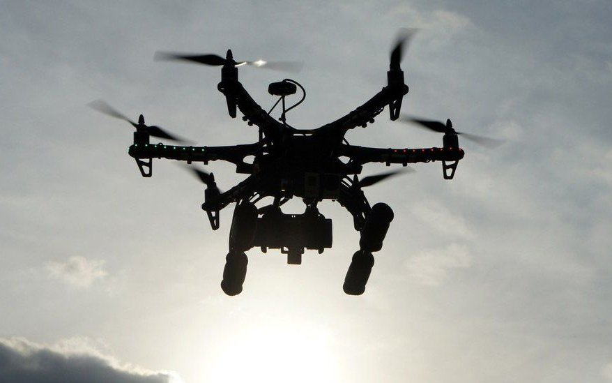 illegal flying drone without permission from air traffic control